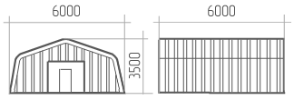 Ангар (профиль-А) 6х6х3.5
